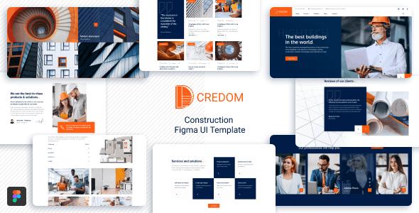 Credom - Construction  Figma UI Template - Corporate Figma