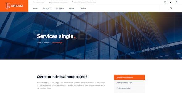 Credom - Construction  Figma UI Template