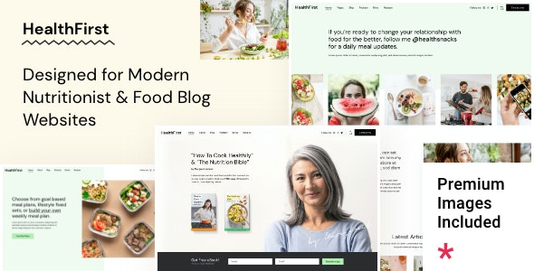 HealthFirst - Nutrition and Recipes Theme - Health & Beauty Retail
