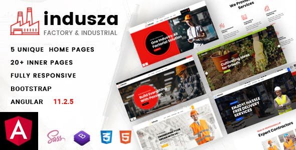 Indusza - Industrial & Factory Angular Template