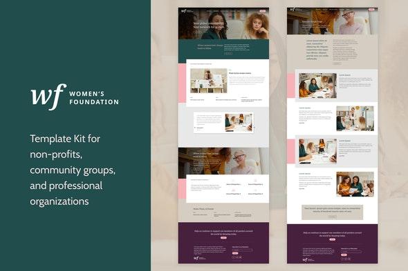 Women's Foundation | Non-Profit WordPress Elementor Template Kit - Non-Profit & Religion Elementor