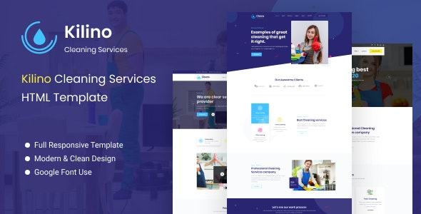 Kilino - Cleaning HTML Template - Business Corporate