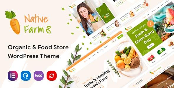 NativeFarm - Organic & Healthy Food WordPress Theme