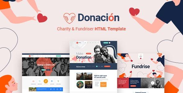 Donacion - Fundraising & Charity HTML5 Template - Charity Nonprofit