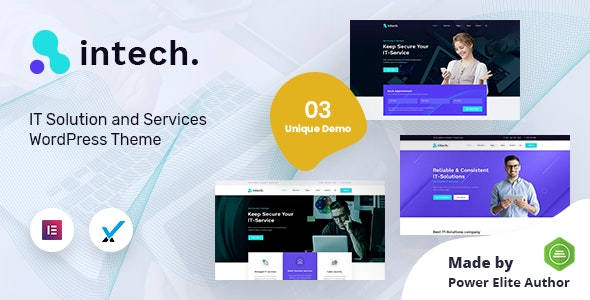 Intech - IT Solutions Company WordPress Theme - Marketing Corporate