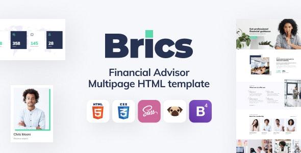 Brics - Financial Advisor HTML5 Template - Business Corporate