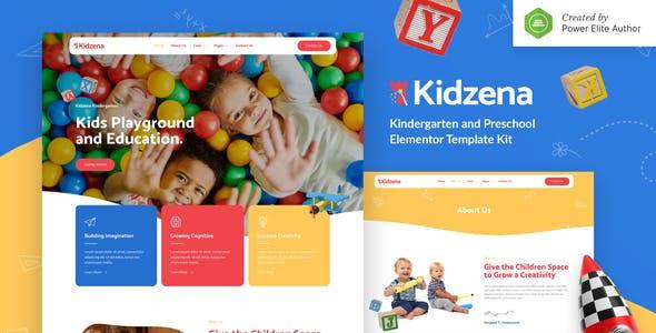 Kidzena – Kindergarten & Preschool Elementor Template Kit