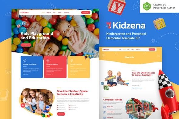 Kidzena – Kindergarten & Preschool Elementor Template Kit - Education Elementor