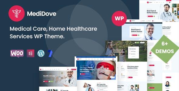 MediDove - Medical Care, Home Healthcare Service WP Theme + RTL