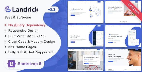 Landrick - Saas & Software Bootstrap 5 Landing Page Template