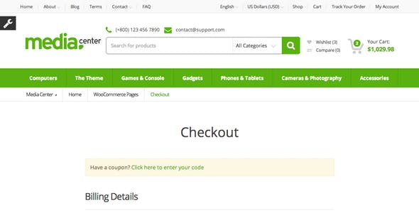 MediaCenter - Electronics Store WooCommerce Theme
