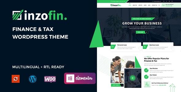 Inzofin – Finance & Tax WordPress Theme - Business Corporate