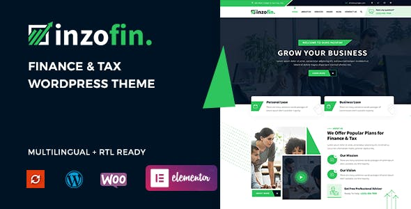 Inzofin – Finance & Tax WordPress Theme
