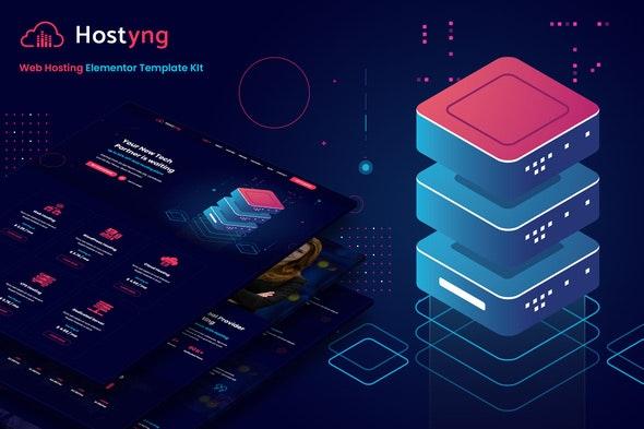 Hostyng - Web Hosting Elementor Template Kit - Business & Services Elementor