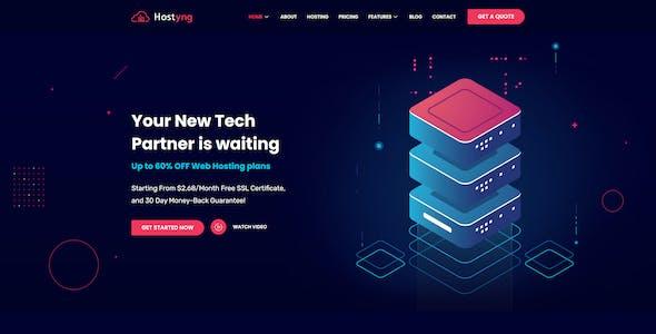 Hostyng - Web Hosting Elementor Template Kit