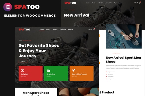 Spatoo - Modern Shoes eCommerce Elementor Template Kit - Shopping & eCommerce Elementor