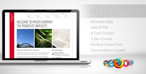 Mygen - Minimalist Business Template 2 - Corporate Site Templates