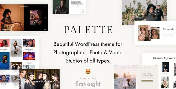 Palette - Photography Portfolio WordPress Theme - Photography Creative
