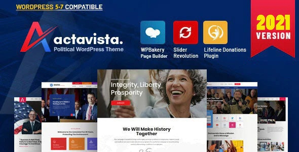 Actavista - A Responsive Political WordPress Theme For Politicians and Organizations - Political Nonprofit