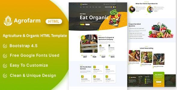 Agrofarm - Agriculture & Organic HTML Template - Food Retail