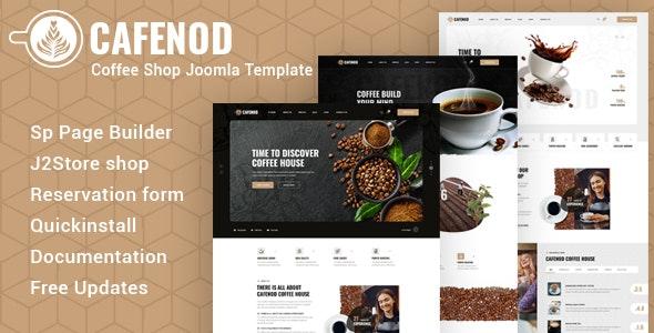 Cafenod – Coffee Shop Joomla Template - Restaurants & Cafes Entertainment
