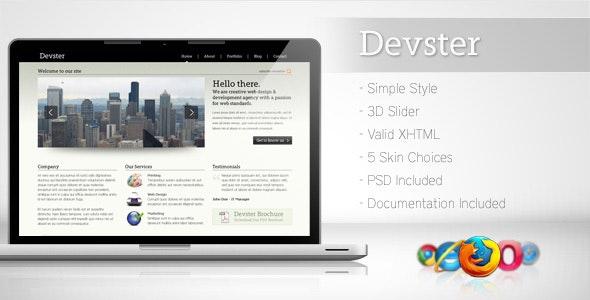 Devster - Simple Business Template - Creative Site Templates