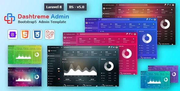 Dashtreme - Laravel 8+ Bootstrap5 Admin Template - Admin Templates Site Templates