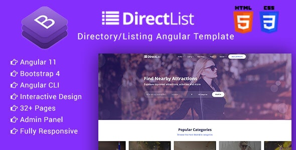 Directlist - Directory & Listing Angular 11 Template - Business Corporate