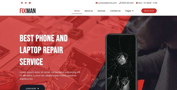 Fixman - Smartphone & Laptop PC Repair Elementor Kit