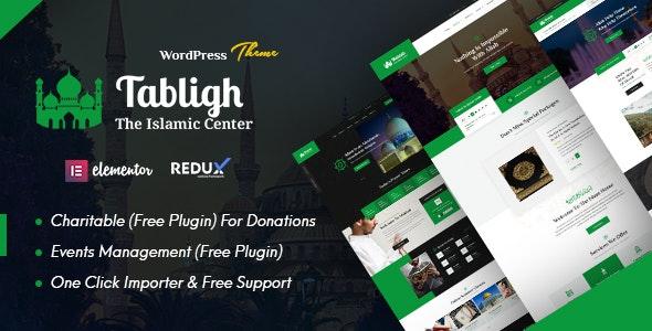 Tabligh - Islamic Institute & Mosque WordPress Theme - Churches Nonprofit