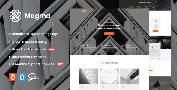 Magma - Business Landing Page Template - Business Corporate