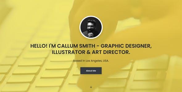 Personal Portfolio Template - Callum