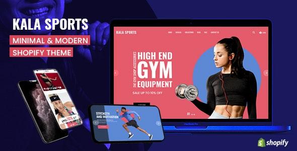 Kala Sports - Mobile Optimized Responsive Shopify Theme - Shopify eCommerce
