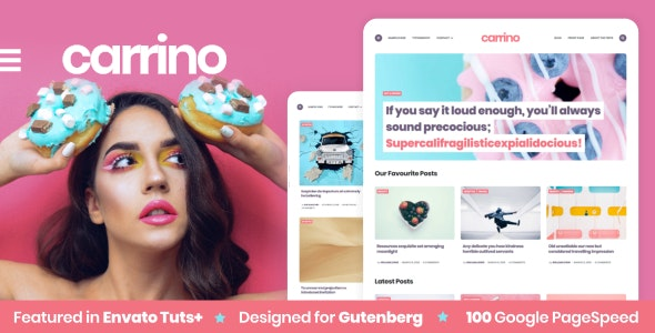 Carrino -  An Exciting Gutenberg Blog Theme - Personal Blog / Magazine