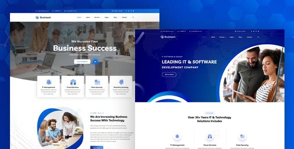 Braintech - Technology & IT Solutions WordPress Theme