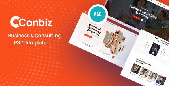 Conbiz - Consultancy & Business PSD Template - Corporate Photoshop