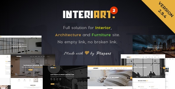 InteriArt - Furniture & Interior WordPress Theme - Business Corporate