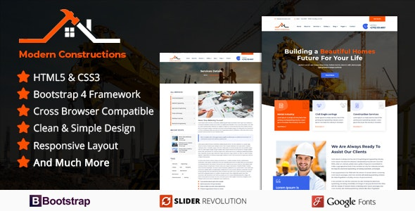 Modern Builder - Responsive HTML Template - Business Corporate