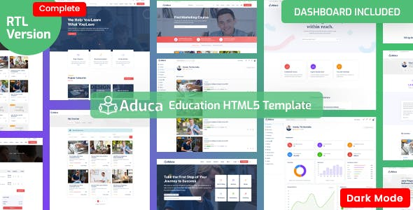 Aduca - Education HTML5 Template with Dashboard
