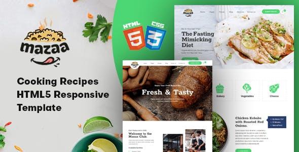 Mazaa - Responsive Restaurant or Eatery Template