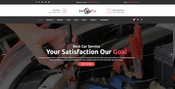 Mr Fix - Car Repair Service HTML5 Template