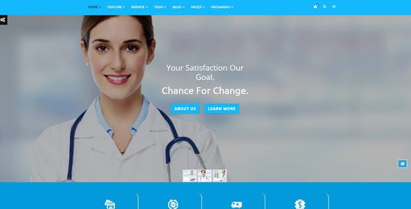 eHospital - Health Care, Medical Hospital & Doctors Clinic HTML Template
