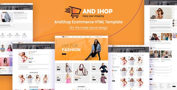 AndShop Ecommerce HTML Template - Shopping Retail