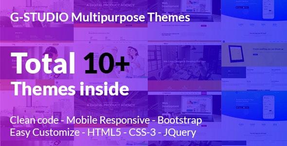 G Studio - Multipurpose Responsive Website Template - Corporate Site Templates