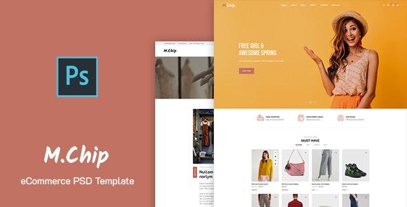 MChip - eCommerce PSD Template - Retail Photoshop