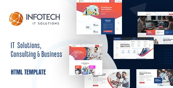 Infotech - IT Solutions HTML5 Template - Business Corporate