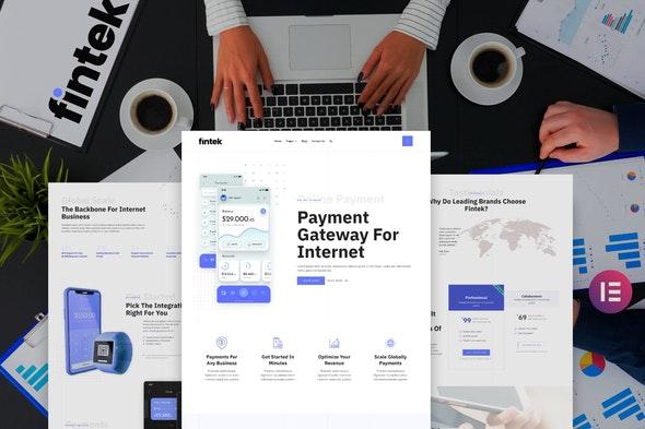 Fintek - Financial Technology Elementor Template Kit - Technology & Apps Elementor