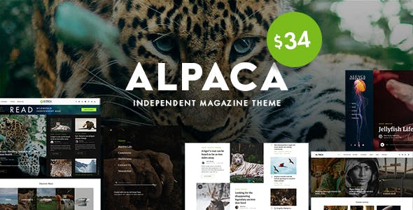 Alpaca - Independent Magazine WordPress Theme