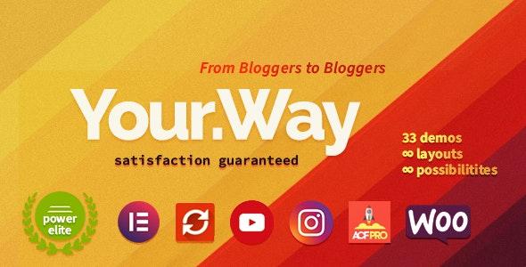 YourWay | Multi-Concept Blog WordPress Theme - Personal Blog / Magazine