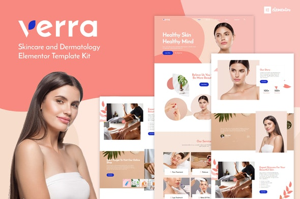 Verra - Skincare & Dermatology Elementor Template Kit - Fashion & Beauty Elementor